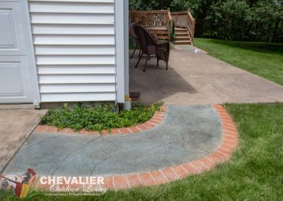 Stamped & Colored Concrete Walkway