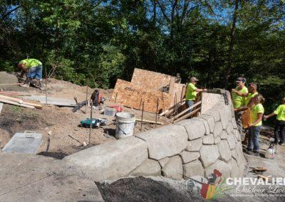 Concrete Wall in Progress