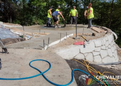 Crew Stamping Concrete Patio