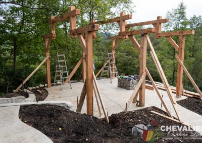 Post & Beam Structure Frame Installation