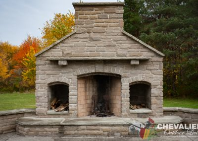Completed Rumford Fireplace with Citadel Stone