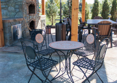 Outdoor Kitchen with Pizza Oven and Patio