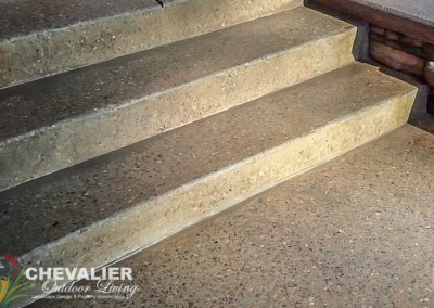 Exposed Aggregate Poured Concrete Steps