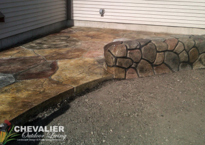 StoneMakers Stamped, Carved & Colored Concrete Patio & Wall