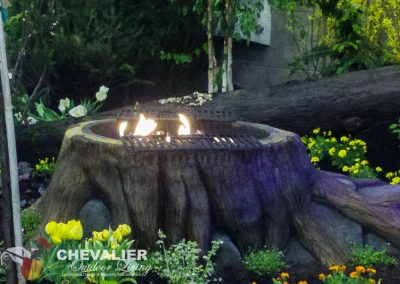 Carved & Colored Concrete Firepit