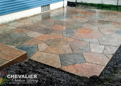 StoneMakers Stamped Carved & Colored Patio