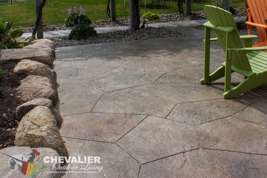 StoneMakers Stamped, Carved U0026 Colored Patio