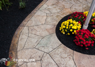 StoneMakers Stamped, Carved & Colored Concrete Walkway