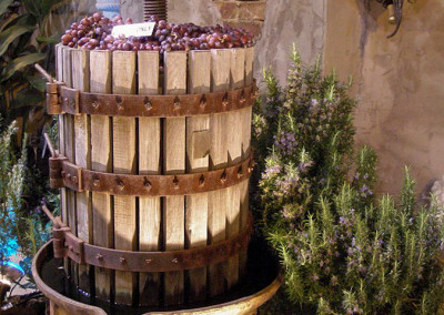 Wine Press Water Fountain