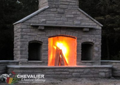 Rumford Fireplace with Citadel Stone