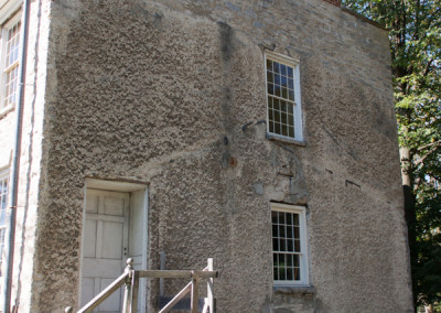 Hull House Before With Stucco Finish