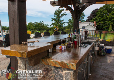 Outdoor Dual Level Kitchen/Bar