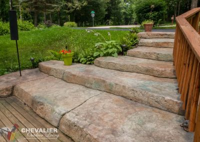 Stamped Carved and Colored Concrete Stairway