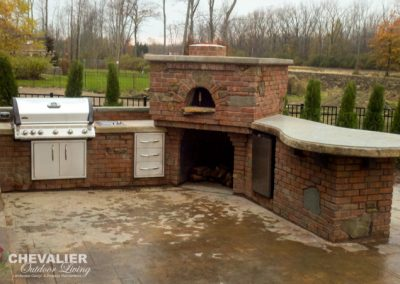 Brick & Stone Outdoor Kitchen-Edit