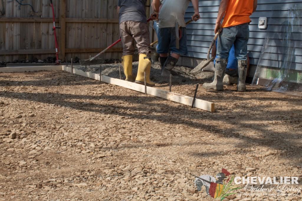 Pouring Concrete Patio