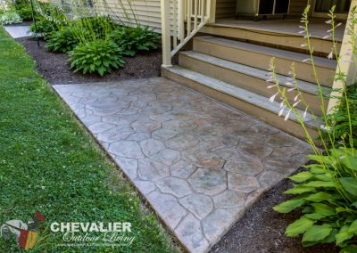 Stamped & Colored Concrete Approach