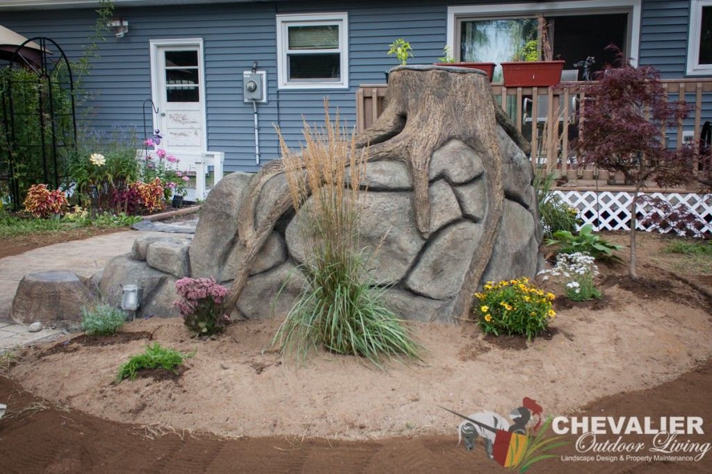 Carved Concrete Water Feature