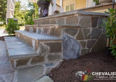 Mortared Flagstone Stairs