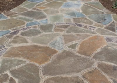 Mortared Flagstone Walkway