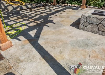 Concrete Patio & Fire Pit