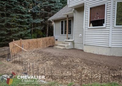 Patio Wall Forming