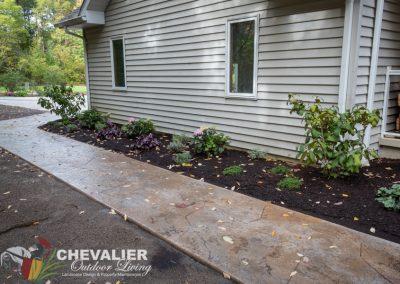 Carved Concrete Walkway & Landscape Installation
