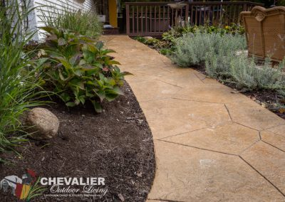 Inclined Stamped Concrete Walkway