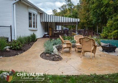 Inclined Stamped Concrete Walkway & Patio