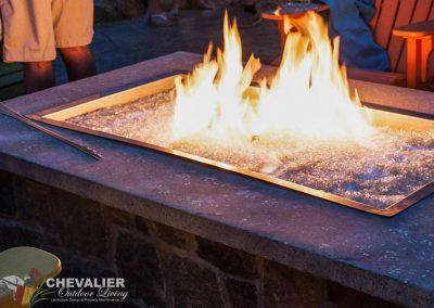 Natural Stone & Concrete Gas Fire Pit