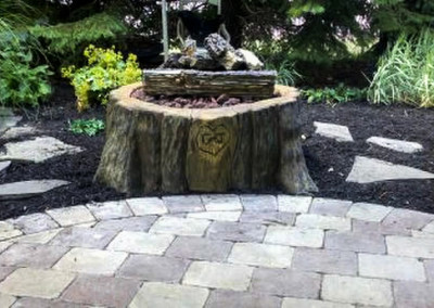StoneMakers Carved Concrete Fire Pit