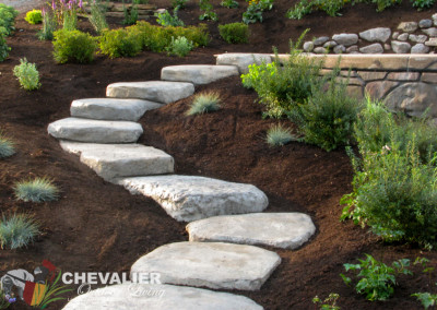 Carved Concrete Stepping Stones