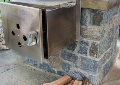 Outdoor Kitchen with Built-In Smoker