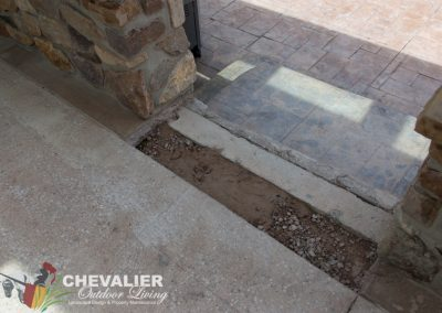 Before: Patio, Removal of Concrete Step