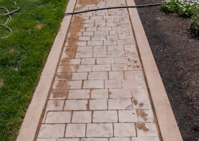 Cleaned Existing Concrete Walkway