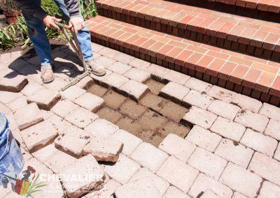 Straightening Existing Paver Walkway