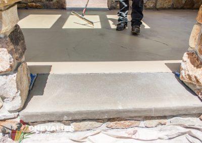 During: Patio Resurfacing & New Concrete Step