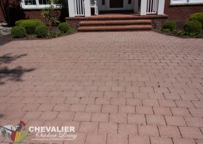 After: Straightened & Cleaned Paver Walkway