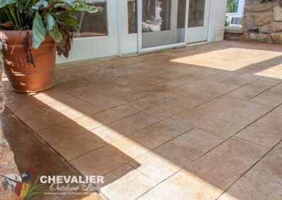After: Resurfaced Patio