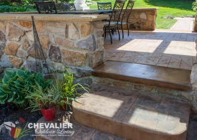 After: New Concrete Step & Resurfaced Patio