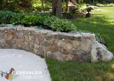 After: Stone Wall Cleaning
