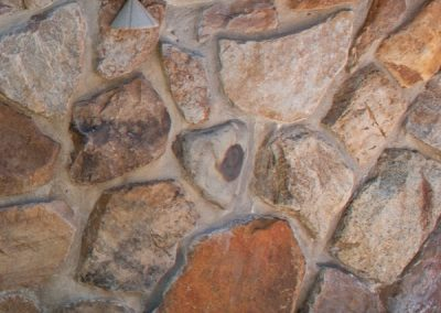 After: Stone Wall Cleaning and Repair