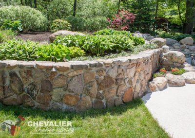 After: Stone Wall Cleaning & Repair