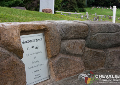 Carved & Colored Concrete Memorial Bench