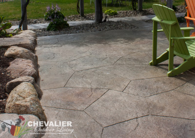 StoneMakers Stamped, Carved & Colored Patio