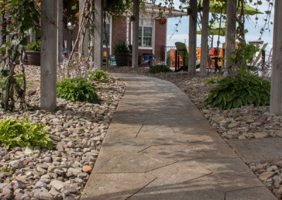 StoneMakers Stamped, Carved & Colored Pathway