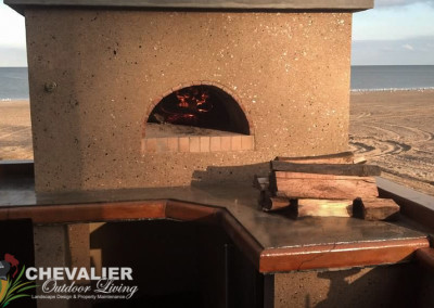 Beach Theme Concrete & Brick Oven