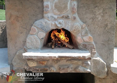 Natural Stone & Stucco Oven