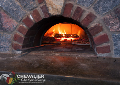 Natural Stone and Brick Oven In Use