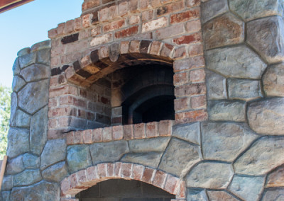 Carved Concrete and Brick Oven