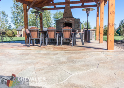 Stamped & Colored Concrete Patio